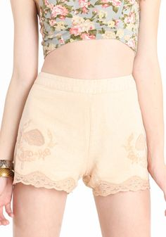 Lace Linen Shorts by Free People these are in, check out the ones @ Zara as well