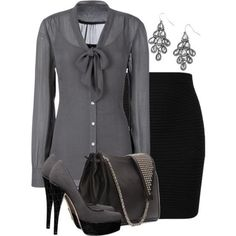 Classic Look of Grey/Gray & Black.