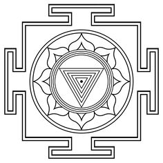 Kali Yantra Outline