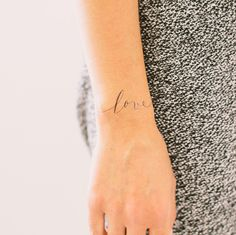 Love temporary tattoo would be sweet for an engagement shoot
