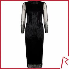 #RihannaforRiverIsland LIMITED EDITION Black Rihanna bugle beaded midi dress. #RIHpintowin click here for more details >  http://www.pinterest.com/pin/115334440431063974/