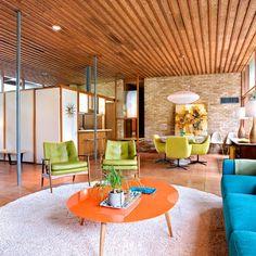 #mid-century living room