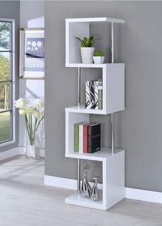 Shop Coaster Furniture White 4 Shelves Bookcase with great price, The Classy Home Furniture has the best selection of Bookcases to choose from Coaster Furniture, Home Decor Furniture, Diy Home Decor, Furniture Design, Furniture Market, Furniture Styles, Furniture Outlet, Luxury Furniture, Furniture Makeover