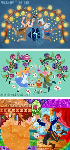 Atlantis, Alice in Wonderland, Beauty and the Beast