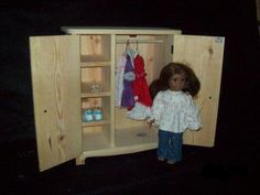 """18"""" doll armoire"""