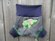 Upcycled Cashmere/ Wool Soaker Cover Diaper Cover by Myecobaby