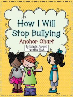 How I Will Stop Bullying {Anchor Chart} - You will find everything you need to make an anti-bullying anchor chart. I have also included a booklet for your students to make so they have their own copy of the anchor chart to take home. Elementary School Counseling, School Social Work, School Counselor, Elementary Schools, High School, Classroom Behavior, School Classroom, Classroom Management, Behavior Management
