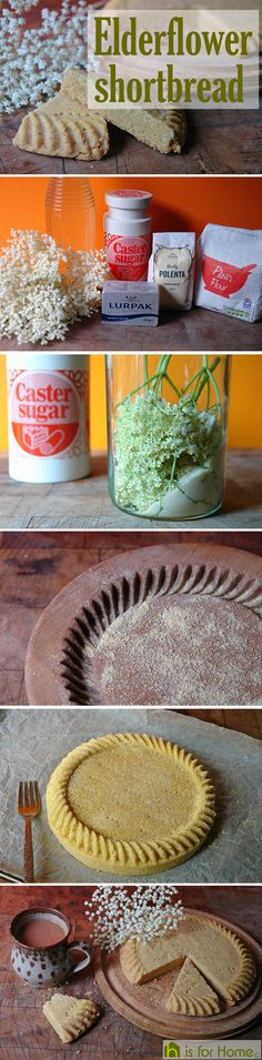 Home-made elderflower shortbread #recipe #biscuits #baking #shortbread
