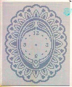 schema di un orologio a filet | schema filet disponibile a richiesta