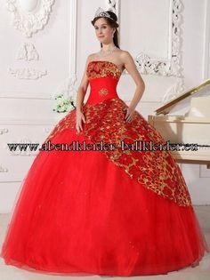 Königin Abend - Ballkleid Brautkleid in Rot