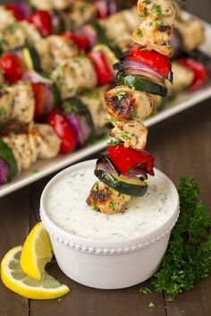 יווני קבאב עוף עם צזיקי | Community Post: 17 Drool-Worthy Grill Recipes That Will Blow You Away