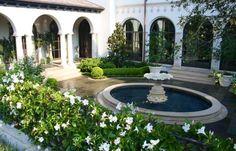 Courtyard Mediterranean fountain