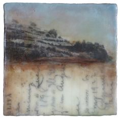 Original Encaustic Mixed Media Painting: On the Sanctuary Trail #2 by Kari Hall