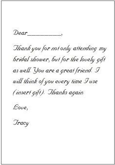 Thank You Cards for Wedding Gifts