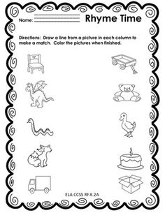 Beginning Sounds and Rhyming - Back to School