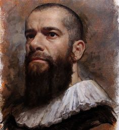 Cesar Santos. One of the great talents of this time. My dream is to be as close as possible to the best portrait artists of history. #contemporaryportraits #selfportrait #oilpainting