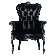 Smoke Arm Chair in Black