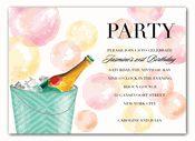 Champagne Bubbles Invitations
