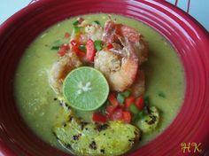 Roasted Tomatillo Chayote Soup with Jumbo Shrimp|Hispanic Kitchen