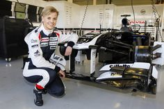 Susie Wolff, Touring car driver, test driver for Williams F1. There is no more male dominated world than Formula One racing. Meet the woman who's close to cracking that ceiling.