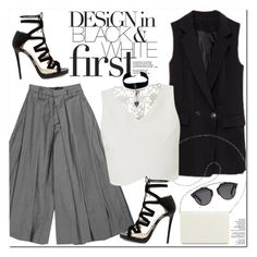 """Black & White"" by oshint ❤ liked on Polyvore featuring Jimmy Choo, Nine West, Christian Dior, Lipsy and Child Of Wild"