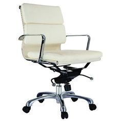 Creative Images International Murphy Desk Chair Upholstery: White