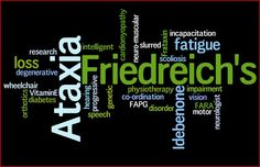 September is International Ataxia Awareness Day. Join your local Friedreichs Ataxia organisation and help find a cure Friedreich's Ataxia, Muscular Dystrophies, Disability Awareness, Rare Disease, Scoliosis, Chronic Illness, Fibromyalgia, Disorders, Diabetes
