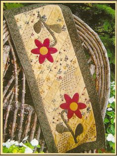 Quilt Table Runner Quilt As You Go Bloomin' by PatternPriority, $5.95
