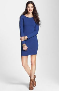 Socialite Long Sleeve Body-Con Dress (Juniors) available at #Nordstrom