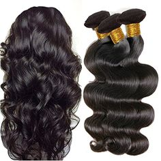 Colorful Queen Brazilian Virgin Hair Body Wave 3 Bundles Remy Human Hair Extensions Unprocessed Brazilian Hair Weave Bundles for Women Natural Black Color 8 8 8 inch Body Wave Weave, Body Wave Hair, 100 Human Hair Extensions, Remy Human Hair, Remy Hair, Weave Extensions, 2 Hair Color, Hair Patterns, Style Patterns