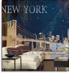 New York Streets Mural MP4856M by York Roomsetting