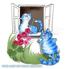 Картинки синие коты - 06
