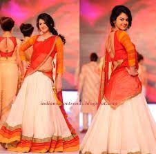 Related image Sharara Designs, Choli Designs, Indian Lehenga, Half Saree Lehenga, Anarkali Dress, Indian Wedding Outfits, Indian Outfits, Christian Bridal Saree, Simple Lehenga
