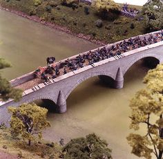 "This is a Civil War diorama of the ""Burnsides Bridge"" battle, for the National Civil War Museum."