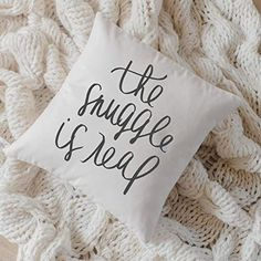 Throw Pillow - The Snuggle Is Real, Handmade in the USA, calligraphy, home decor, wedding gift, engagement present, housewarming gift, cushion cover, throw pillow Engagement Presents, Diy Rustic Decor, Farmhouse Decor, Bedroom Styles, Fashion Room, Home Decor Bedroom, Bedroom Ideas, Animals For Kids, Wedding Gifts