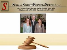 Seigman, Starritt-Burnett & Sinkfield, PLLC in Harker Heights, Texas represents clients in family law, personal injury and criminal defense matters. Divorce Lawyers, Child Custody, Child Support, Criminal Defense, Personal Injury, Texas, Children, Handle, Free