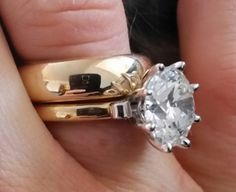 Scandinavian's 10 Year Wedding Anniversary Gift - 5 Carat Diamond (Angle/Hand View) - image by Scandinavian