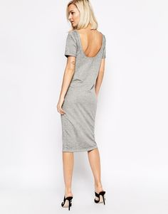 Image 1 ofSelected Midi Dress with Scoop Back
