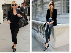 How to Wear Loafers for Women. One of the current fashion trends are loafers, a type of shoe that has always been worn by men and that is only recently being created for women too. Outfit Loafers, How To Wear Loafers, Loafers For Women, Loafer Shoes, Current Fashion Trends, Latest Shoe Trends, Casual Chic, Smart Casual, Fall Winter Shoes