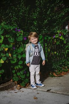 This kid is such a Will. Like the chambray and converse.