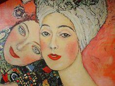 Detalle de Las Amigas (1916-1917) Gustav Klimt. Galería Welz, Salzburgo