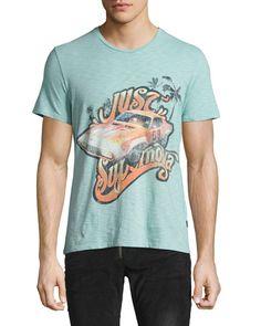 Just Supernova Vintage Car T-Shirt, Light Blue