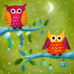 Ileana Oakley - xmas owls stockings bubbles.jpg