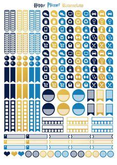 Printable stickers Harry Potter maison par Plus Stickers Harry Potter, Harry Potter Diy, Harry Potter Planner, Printable Planner Stickers, Free Printables, Day Planners, Happy Planner, Etsy, Journaling
