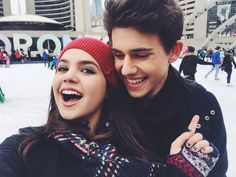 Straight from the #GoodWitch set to ice skating with @RhysMatthewBond . No broken bones! I call that success!