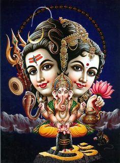 Hindu God Vinayaka Siva Parvathi Hd Wallpaper Free Download Bakthi