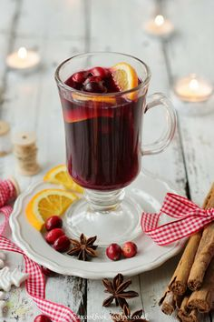 Bea's cookbook: MULLED WINE - this was delicious! I left out the anise because I didn't have it, and added the juice from two oranges instead of one. So lovely and festive!