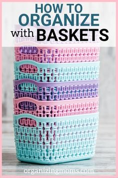 Organizing with baskets is the perfect way to contain clutter, categorize, organize, and beautify your home. Learn about all of the different ways you can organize with baskets. organization Easy Practical Ways of Organizing with Baskets Dollar Tree Organization, Basket Organization, Household Organization, Small Bedroom Organization, Clutter Organization, Organisation Hacks, Organization Quotes, Declutter Your Home, Organizing Your Home