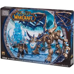 Mega Bloks World of Warcraft Sindragosa and the Lich King Play Set Toys R Us, World Of Warcraft Merchandise, Video Game Heaven, Lego Memes, King Play, Lich King, Death Knight, Destiny Game, Used Video Games