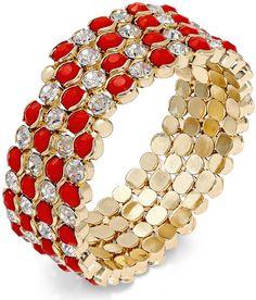 Thalia Sodi Stone and Crystal Coil Bracelet on sale $14.75